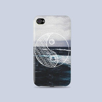 NOISE Ying Yang draw on the sea Plastic Hard Case - iphone 5 - iphone 4 - iphone 4s - Samsung S3 - Samsung S4 - Samsung Note 2