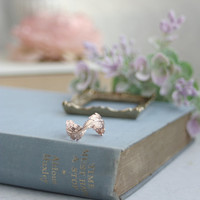 Leaf Ring. Rose Gold Or Rhodium Plated Leafy Ring. Rose Gold Plated Adjustable Leaf Ring. Everyday Ring Bridesmaids Gift, Nature Inspired.