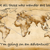 Not all those who wander are lost Stretched Canvas by Jessieryann3