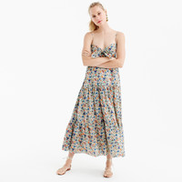 Tie-front dress in Liberty® Rachel floral : Women ready-to-party collection | J.Crew