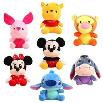 abb1a9e1624 Disney Stuffed Animals Plush Mickey Mouse Minnie Winnie the Pooh