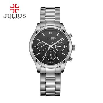 Real Functions Men's Women's Watch Swiss Quartz Hours Fashion Dress Sport Stainless Steel Birthday Girl Birthday Gift Julius Box