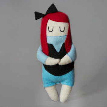Landlubber Ariel - The Little Mermaid Felt Plush Doll - Disney Inspired Plushie - Ariel with Legs - Ariel on Land