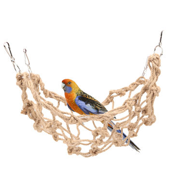 1pcs Rope Net Pet Parrot Bird Chew Play Climbing Chewing Toys Swing Ladder Toy  with Hook Hanging Pet Birds Supplies