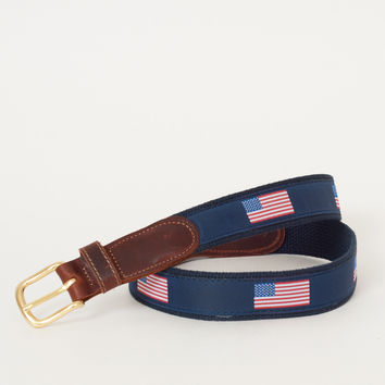Preston Leather - American Flag Belt