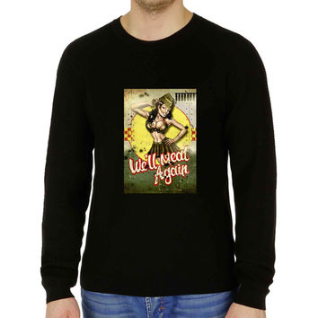 World War 2 Bomber Pin Up - Fendercase - Sweater for Man and Woman, S / M / L / XL / 2XL **