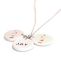 Spiritual necklace - Love, Joy, Faith
