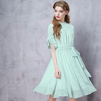 PLT Ruffle Sleeve Party Dress Mint