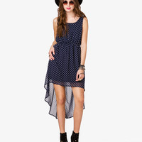 Surplice Back Polka Dot Dress