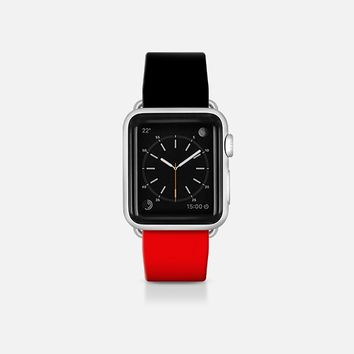 Black and red  - Bicolor collection Apple Watch Band (38mm)  by WAMDESIGN | Casetify