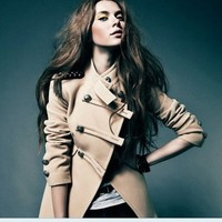 Military Uniform Style Short Coat from Pop and Shop