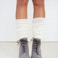 Ruffled Cuff Knit Legwarmers | Wet Seal