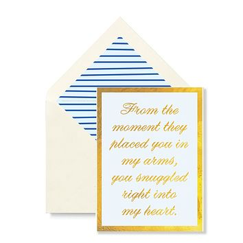 From The Moment (Blue) Greeting Card, Single Folded Card or Boxed Set of 8