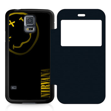 Nirvana Art Leather Wallet Flip Case Samsung Galaxy S5