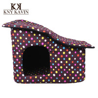 Brand Dog House New 2014 Fashion House For Dogs Small Pets Cats Home Puppy Dog House New Arrival Free Shipping Pets Beds HP214