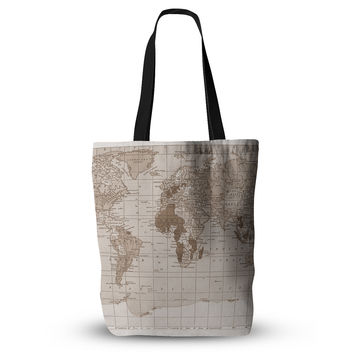"Catherine Holcombe ""Emerald World"" Vintage Map Everything Tote Bag"