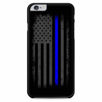 Vertical Thin Blue Line American Flag iPhone 6 Plus / 6S Plus Case