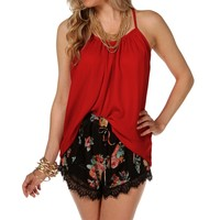Promo-red Scoop Neck Tank Top