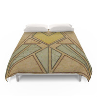 Society6 Arts & Crafts Style Tulip Duvet Cover