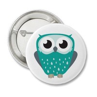 Claude the Little Owl Pin Badge Button from Zazzle.com