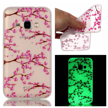 Fashion Luminous Case Slim Fluorescence Soft TPU Cover for Samsung Galaxy J1 2016 J120 J120F J120H Glow in the Dark Silicon Skin