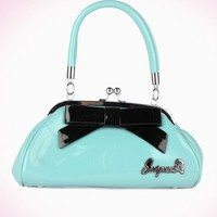 Floozy Kiss Lock Purse in Baby Blue | Pinup Girl Clothing