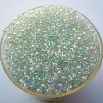 Bright White Ab Color 1000Pcs 2mm Czech Glass Seed Spacer Beads Jewelry Making DIY Pick 46 Colors