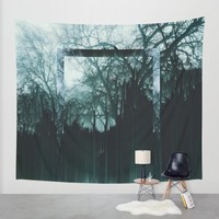 Tree Lines Wall Tapestry by Ducky B
