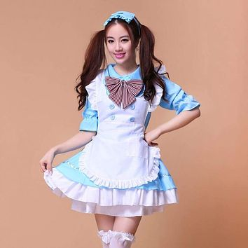 8 colors Lovely Anime role-playing cartoon Akihabara Lolita Princess  Sexy Cosplay Costume Japan House Maid Uniform Women Dress Macchar Cosplay Catalogue