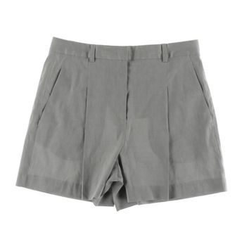 DKNY Womens Linen Pleated Casual Shorts