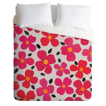 Garima Dhawan Dogwood Berry Duvet Cover