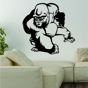 Gorilla v2 Decal Wall Vinyl Art Decor Room Animal Beautiful Monkey Ape Harambe Jungle Teen