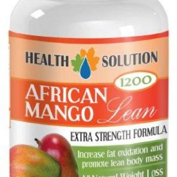 Fat burner for weight loss - AFRICAN MANGO EXTRACT (1200Mg) - African mango plus - 1 Bottle 60 Capsules