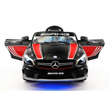 Mercedes CLA45 Sport 12V Kids Ride-On Car with R/C Parental Remote | Black