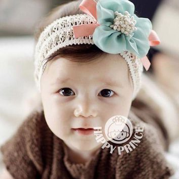 PEAP78W Cute Kids Girls Headband Hair bands Bowknot Flower Hair Clips Ribbon Headdress Hair Wear
