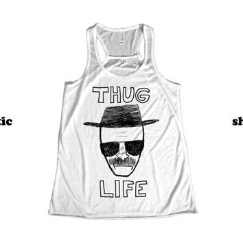 Breaking Bad Singlet Tank Top | Thug Life Heisenberg Razorback Tanktop | Funny TV Clothing