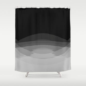 Gray Black Ombre Pattern Shower Curtain by SimplyChic