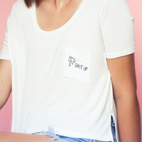 JENNAH PALMS SHUT UP EMBROIDERY TOP