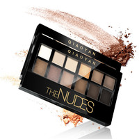 QIAOYAN The Nudes 12 Colors Matte Glitter Eye Shadow Palette