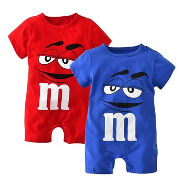 Summer Baby Boy Clothes Unisex Short Sleeve Cartoon Baby Rompers Newborn Toddler Baby Girl Clothing Infant Jumpsuit