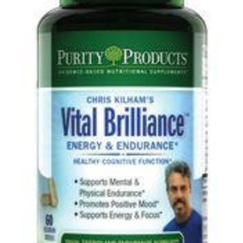 Purity Products Vital Brilliance Energy & Endurance with Rhodiola Rosea - 60 Capsules