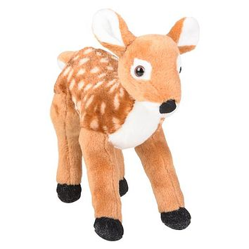 8 Inch White-Tailed Deer Fawn Stuffed Animal Plush Floppy Zoo Species Collection