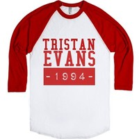 Tristan Evans 1994-Unisex White/Red T-Shirt