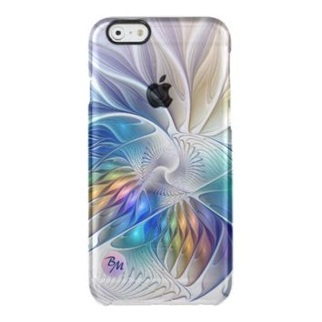 Floral Fantasy, abstract and modern, Monogram Clear iPhone 6/6S Case