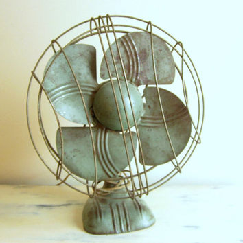 Vintage Dominion Electric Fan Art Deco Desk or Wall Mount