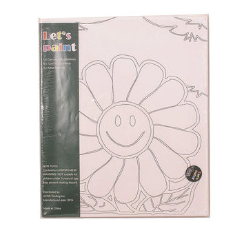Sunflower Canvas - Acrylic Painting Set with Brushes Kids Craft