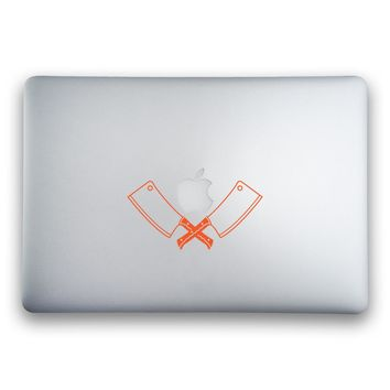 Crossed Butcher Knife Sticker for MacBooks and Apple Devices