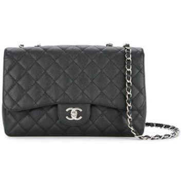 GCKIN3 Chanel Vintage Quilted Double Chain Bag