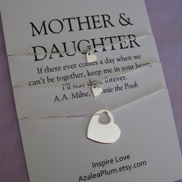 Mom Daughter Gift. 40th Birthday Mother Daughter Necklace.  Mother Daughter Jewelry. Mother Daughter. Simple Delicate Sterling Silver