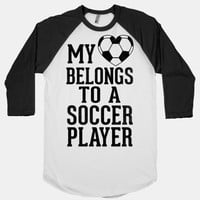 My Heart Belongs to A Soccer Player (Baseball Tee) | HUMAN